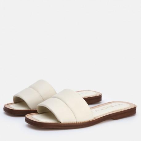 Sandalia pala acolchada beige JADE