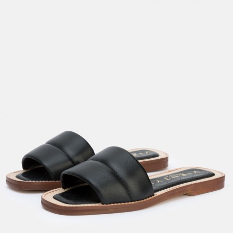 Sandalia pala acolchada negro JADE