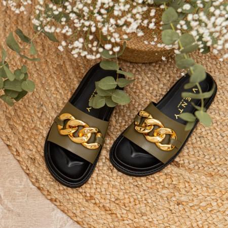 Sandalia cadena verde MINION