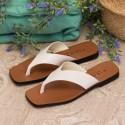 Sandalia plana piel beige Zoco