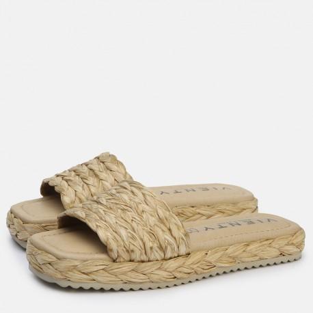 Sandalia pala trenza natural OLIVIA