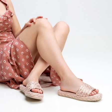 Sandalia pala trenza rosa OLIVIA