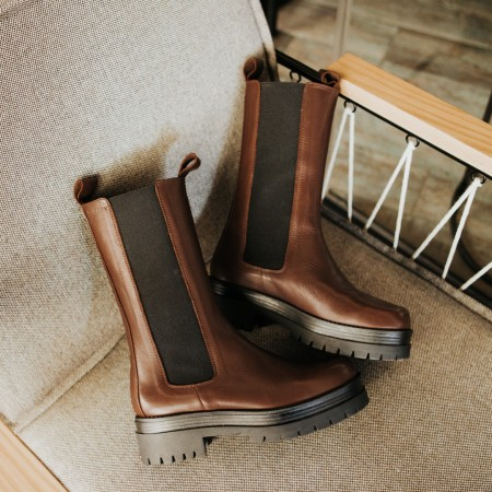 Brown leather ankle boots Gran