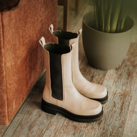 Sand leather ankle boots Gran