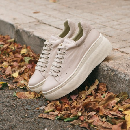 Sneaker Piel Beige Yoana