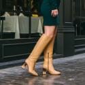Camel leather boot Caroline