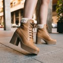 Leather leather ankle boots Iron