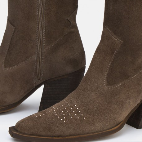 Bota cristales suede taupe GIVEN