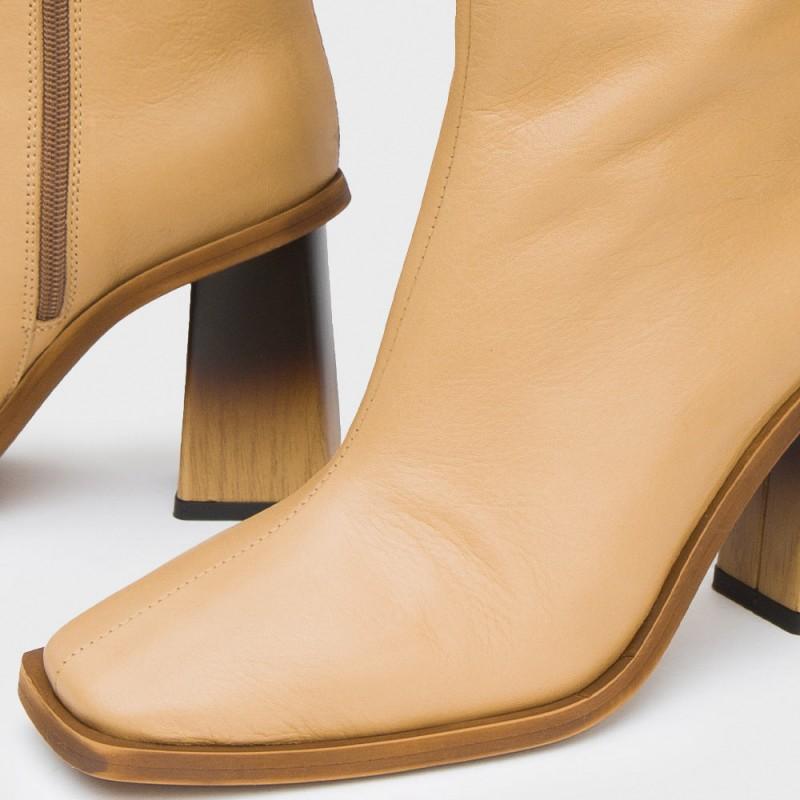 Bota piel camel CAROLINE
