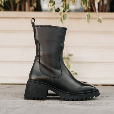 Black leather ankle boots Dhalia