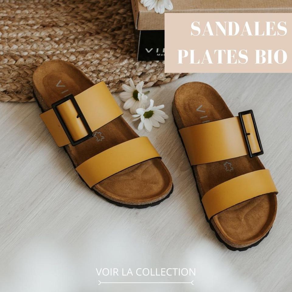Vienty Sandales Plates Bio